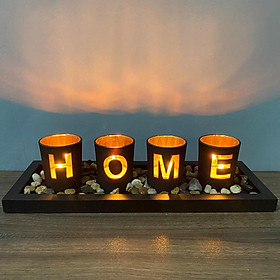Set of 4 Candle Holder Candlestick Table Centerpiece Wedding Decor