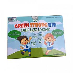 Thực phẩm chức năng bảo vệ sức khỏe  Diệp lục lysine ( Green strong kid) hỗ trợ trẻ ăn ngon, hấp thu tốt