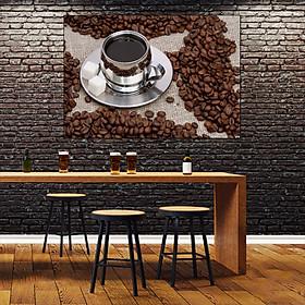 Tranh dán tường quán cà phê GDT-06