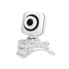 Portable HD Webcam 480P 0.3MP 30fps Camera with Clear Mount Clip Built-in Microphone Notebook Laptop PC Desktop Computer