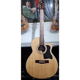 Đàn guitar Aucoustic MKAC220E, thùng eo, vân gỗ, size 4, Việt Nam, kèm bao da, bộ dây