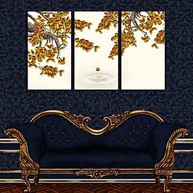 Tranh Canvas treo tường nghệ thuật | Tranh bộ nghệ thuật 3 bức | HLB_113