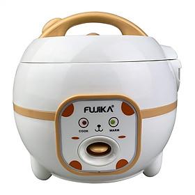 Nồi cơm điện mini 0.8L Fujika FJ-NC0608 thích hợp 2-3 người ăn, công suất 350W-Màu ngẫu nhiên, hàng chính hãng