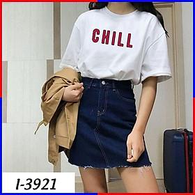 Áo Phông Tay Lỡ In Chữ CHILL Đỏ Đơn Gỉan