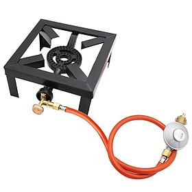 8KW Gas Boiling Ring Cast Iron Burner L LPG Stove Outdoor Cooker Iron Frame Portable Fire Control Stove