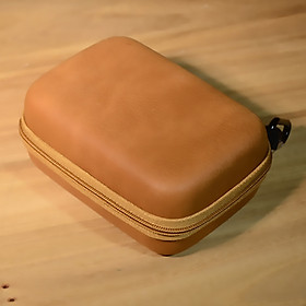 Hộp túi phụ kiện công nghệ SmileBox kèm móc treo, khung cứng chống sốc màu da vintage sang trọng đựng bộ sạc, dây cáp, tai nghe, airpods pro- Hàng chính hãng