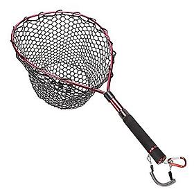 Fishing Net with Fishing Lanyard Fish Landing Net with Telescopic Handle for Fish Catching Releasing