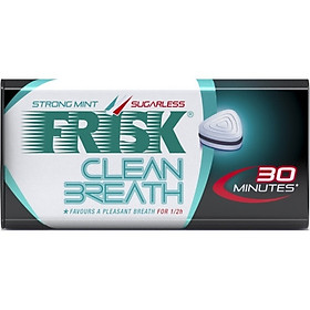 Kẹo ngậm bạc hà Frisk Clean Breath Strong Mint vị Bạc hà mạnh (50 viên)
