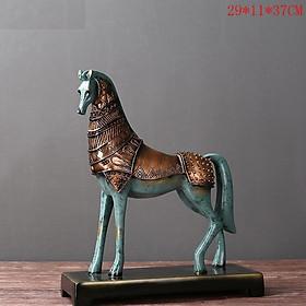Mô hình tượng Ngựa decor trang trí kích thước lớn để bàn , chất liệu nhựa tổng hợp , dùng để làm quà tặng may mắn mã đáo