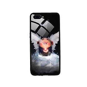 Ốp Lưng Kính Cường Lực cho điện thoại Oppo A3s - Pig 21