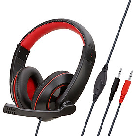 Anti-violence Computer Headset Portable Stereo Volume Control Headphone for PC Laptop with Mic