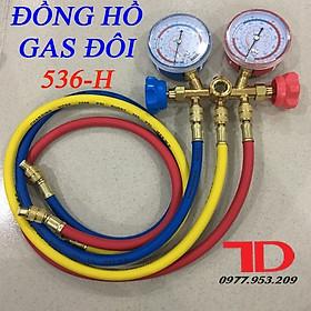Đồng hồ gas đôi, đồng hồ đo áp suất gas máy lạnh CT 536H