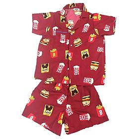 Đồ Mặc Nhà (Ngủ) Pijama Thái Vải Kate PijamaThaiKate51 - Đỏ Đô