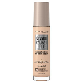Maybelline Dream Radiant Liquid Foundation 20 Classic Ivory