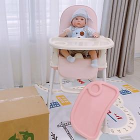 Ghế ăn dặm cho bé 3 nấc điều chỉnh độ cao, full đệm ghế, có bánh xe làm xe kéo cho bé