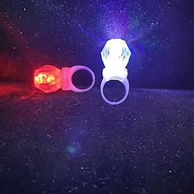 Nhẫn đeo tay PHÁT SÁNG nhiều màu phụ kiện trang sức độc đáo cá tính