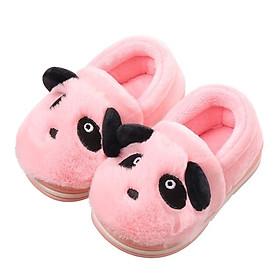 GIày bốt cổ thấp hình gấu  panda hồng xinh xắn, giày bé gái 1-3 tuổi