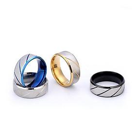 Nhẫn nam sọc xéo nhiều màu