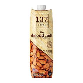 Sữa Hạt Hạnh Nhân Không Đường 137 DEGREES 1000ml