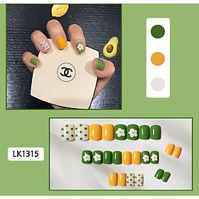 Bộ 24 móng tay giả nail thơi trang như hình (LK1315)