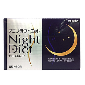 Viên uống Night Diet Orihiro Nhật Bản giúp hỗ trợ giảm cân ban đêm, hỗ trợ làm đẹp da, ngủ ngon, 60 gói x 6 viên/hộp, trong 1 tháng, HÀNG CHÍNH HÃNG