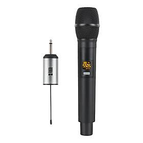 XTUGA UHF hệ thống micro không dây cầm tay LED mic UHF với bộ thu di động cho nhà thờ/nhà/Karaoke/kinh doanh