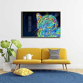 Tranh mica cao cấp Mèo nghệ thuật - MK034