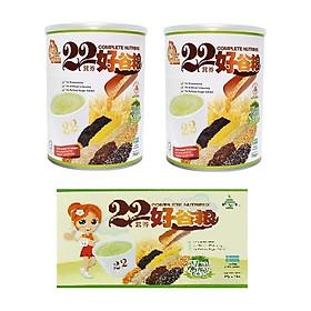 Combo 2 Hộp Bột Ngũ Cốc Dinh Dưỡng 22 Complete Nutrimix Wheat Grass 750g + Tặng 1 Hộp Giấy Complete Nutrimix