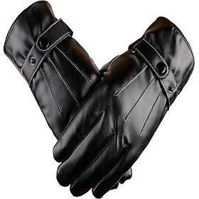 Găng tay da nam cảm ứng GTDCC07