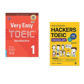 Combo 2 cuốn sách: Very Easy Toeic 1 - Introduction + Hackers Toeic Vocabulary