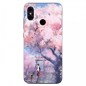 Hình ảnh Ốp điện thoại dành cho máy Xiaomi Redmi 6 - 2 mẹ con MS ACIKI004