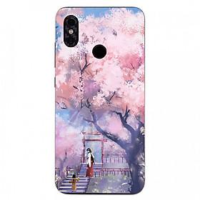 Hình ảnh Ốp điện thoại dành cho máy Xiaomi Mi8 Lite - 2 mẹ con MS ACIKI004