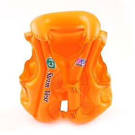 Áo phao bơi trẻ em ABC - Size S (bé từ 3-5 tuổi), chất liệu nhựa dẻo PVC an toàn - POKI
