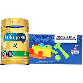 Combo 1 Lon Sữa Bột Enfagrow A+ 4 830g Tặng Đồ Chơi Đập Banh