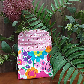 Túi nhỏ handmade đựng băng vệ sinh và đồ dùng cá nhân mẫu hoa ngọt ngào