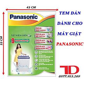 Tem dán dành cho máy giặt PANASONIC