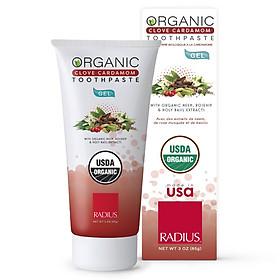 Kem Đánh Răng Hữu Cơ Vị Đinh Hương & Bạch Đậu Khấu Radius - Organic Clove Cardamom Toothpaste, Dạng Gel, 85g