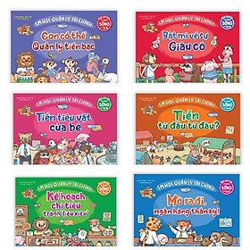 Combo 6 cuốn Rèn luyện kỹ năng sống cho trẻ - Em học quản lý tài chính + Bookmark