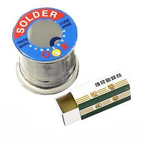 Combo Thiếc Hàn Solder-OK 0.8mm-100g và Nhựa Thông Hộp Loại Tốt