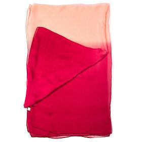 Khăn Choàng Cổ Lụa Tơ Tằm Ombre Đỏ, Xanh - Silk - 180x90cm - Mã KS060