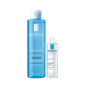 Bộ sản phẩm nước cân bằng giàu khoáng dành cho da nhạy cảm La Roche-Posay Soothing Lotion Sensitive Skin