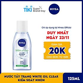 Nước Tẩy Trang NIVEA White Oil Clear Kiểm Soát Nhờn Micellar Water (125ml) - 86610