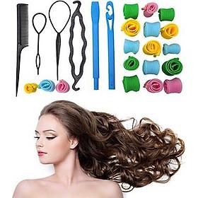 Bộ uốn tóc không nhiệt cúp phồng + 4 dụng cụ tạo kiểu