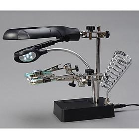 Kính lúp hàn mạch sửa chữa linh kiện điện tử chi tiết nhỏ Ver 1 cao cấp (Tặng móc khóa tô vít 3 chức năng trong1)