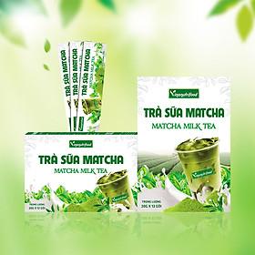 Trà sữa Matcha Vinanutrifood, hương vị thơm ngon hấp dẫn cuốn hút, cảm giác thoải mái, sảng khoái, thư giãn (20g x 12 gói)