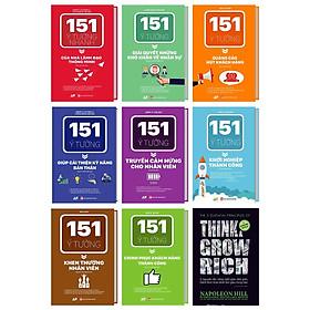 Bộ Sách 151 Ý Tưởng Thành Công Đột Phá Cho Doanh Nghiệp kèm cuốn 5 nguyên tắc vàng nghĩ giàu làm giàu – Đánh thức khao khát làm giàu trong bạn kt