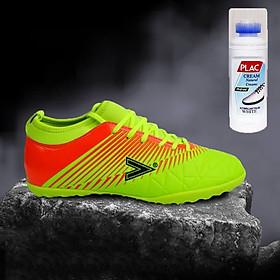 Giày bóng đá Mitre MT161110 màu xanh dạ quang - Tặng bình làm sạch giày cao cấp