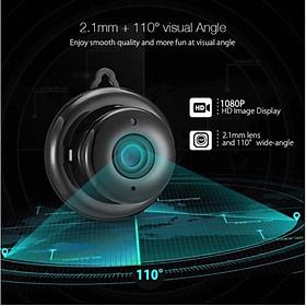 Camera giám sát Wifi Không Dây Mini V380 HỒNG NGOẠI sử dụng cảm biến hình ảnh cao cấp Full phụ kiện (tặng kèm đầu đọc thẻ nhớ cao cấp)