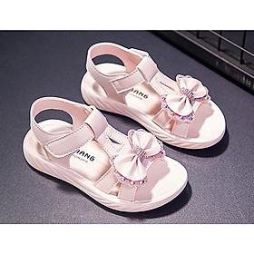 Sandal đính nơ đáng yêu cho bé gái từ 3 đến 15 tuổi Sad26