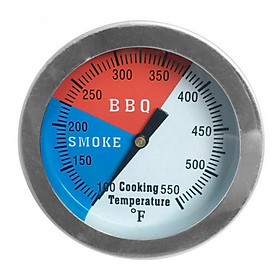 Temperature Gauge Barbecue BBQ Grill Smoker Pit Thermometer BBQ Tool